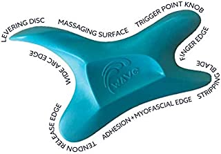 The Wave Tool, The Ultimate Soft Tissue Release Tool. Ergonomic Massage and IASTM Edge Therapy for Treating adhesions, Trigger Points, myofascial Pain. Graston, Gua Sha, Edge, Scraping Tool
