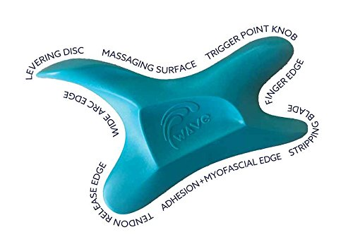 The Wave Tool, The Ultimate Soft Tissue Release Tool. Patented, Ergonomic Scraping and Massage Tool for Adhesions, Trigger Points, Myofascial Release.