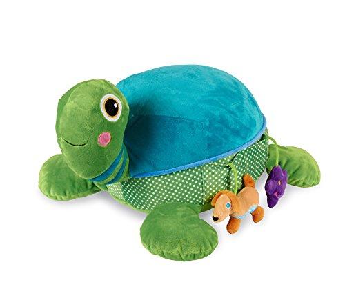 Oops 460300099AV Großes Kuscheltier Schildkröte aus kuschelweichem Material mit vielen Aktivitäten und Geräuschen