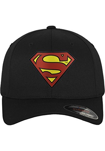 MERCHCODE Herren Superman Flexfit Cap, Blk, L/XL