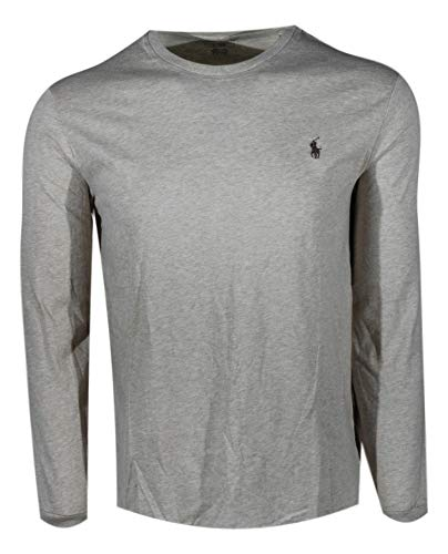 Polo Ralph Lauren Crew Neck Long Sleeve T-Shirt (X-Large, Dune Tan (Brown Pony))