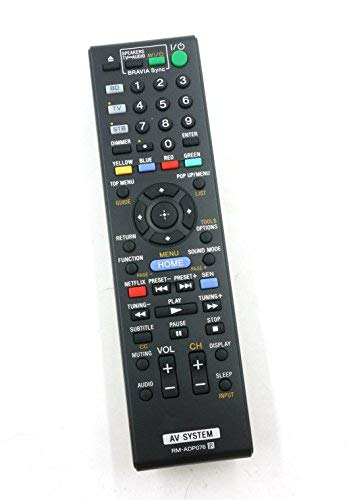 General Replacement Remote Control for Sony Bdv-n8100 Bdv-n8100w Rm-adp076 Hbd-n7100w RM-ADP076 Blu- ray Disc DVD Home Theater Av System