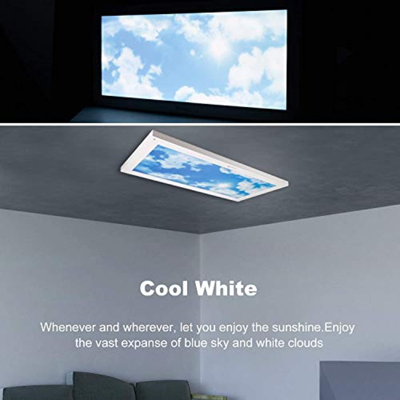 Awenia 24W LED Deckenleuchte Dimmbar 30x60 Panel Lampe Neutralwei KaltWei (4000K-6500K) Flimmerfrei Deckenlampe 2400lm Wandlampe für Schlafzimmer Küchen Esszimmer Wohnzimmer Balkon Büro