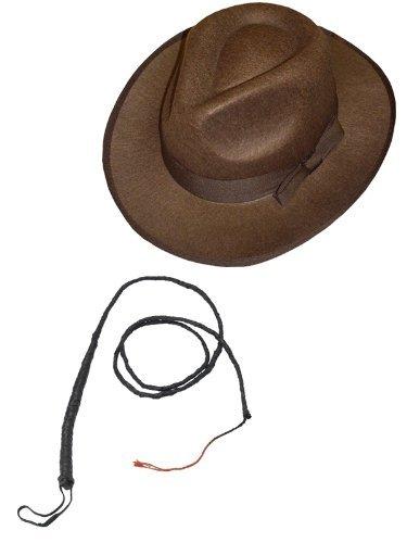 I LOVE FANCY DRESS LTD Hut & Peitsche - ZUBEHÖR FÜR - Indiana Jones -Cowboy ODER Western KOSTÜM= Fasching Unisex VERKLEIDUNG