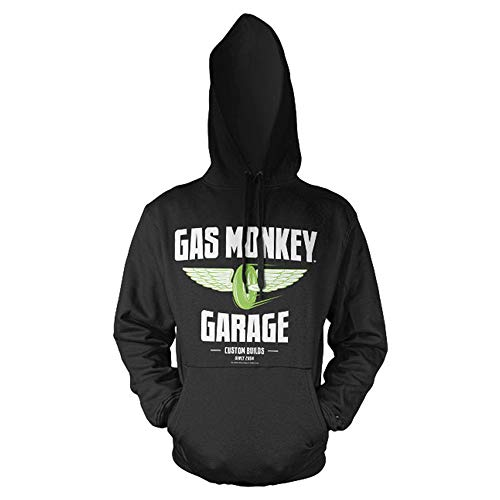 Gas Monkey Garage Officially Licensed Speed Wheels Big & Tall Hoodie (Black) 3X-Large