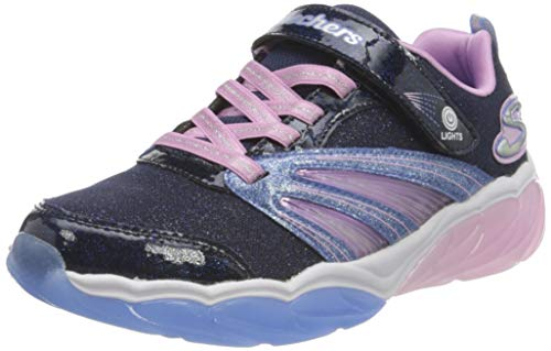 Skechers Fusion Flash Sneaker, Marineblau, glitzernd, Netzstoff, Pink, 35 EU