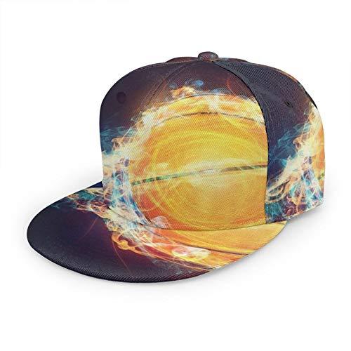 Gorra de béisbol plana 3D Speeding Baloncesto con llamas ala plana ajustable Snapback gorras deporte papá sombrero camionero sombreros para hombres mujeres negro