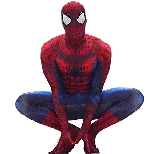 QTCWRL Cosplay Kostüm, Spider-Man Strumpfhosen Außergewöhnliche Explosion Modelle Cartoon Siamese Strumpfhosen Zeigen Volle Tasche Der Kleidung (Farbe: Rot) (Color : Red, Size : XL)