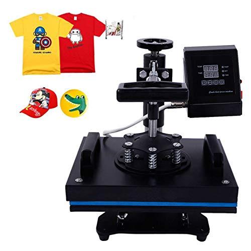 Transferpresse 23x30cm Heißpresse Maschine T-Shirt Presse Maschine Hitzepresse Maschine DIY Heat Press mit Digitaler LCD-Temperatur- und Zeitcontroller