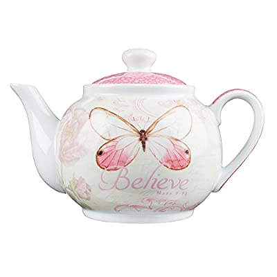Christian Art Gifts Ceramic Teapot and Tea For One Set