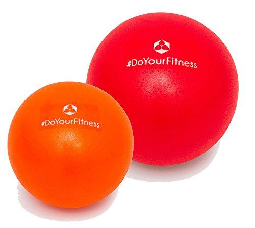 #DoYourFitness [2Stück] Mini Pilates Ball »Bola« Gymnastikball: Effektives Training gegen Verspannungen und Muskelschmerzen, in verschiedenen Größen (18cm & 23cm) / Farbe rot-orange