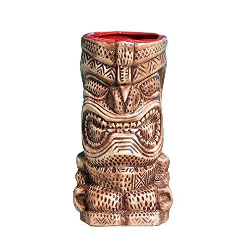 Weinglas Einfachheit Cocktailglas Keramik 450ml Muster Wasserbecher Saft Becher Braun 8x16 cm MUMUJIN