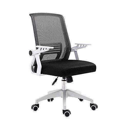 Silla de escritorio de oficina, cómoda silla de oficina de malla con respaldo alto, con apoyabrazos ajustable, cintura elástica, giratoria, silla ergonómica para computadora (color: negro)