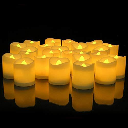 JUSTDOLIFE LED kaars batterij aangedreven vlamloze thee kaarslicht voor Kerstmis Medium Maat 2