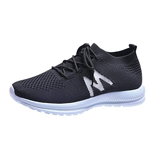 Zapatos de Running para Mujer de Moda Zapatillas Deportivo Outdoor Calzado Asfalto Sneakers Malla Negro Rosa Gris 37-43EU 0204