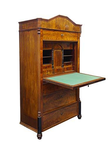 Antiker Schreibschrank mit Kommodenunterbau | Sekretär Louis Philippe um 1870 | Massivholz mit Edel-Furnierhölzern | 4 Schubladen | B: 101 cm (10004)