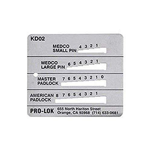 Pro-Lok - KD02 Key Decoder - Medeco, Master & American