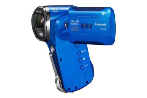 Panasonic HX-WA30EG-A wasserdichter Camcorder (6,7 cm (2,7 Zoll) LCD-Display MOS-Sensor, 3 Megapixel, Full HD, 5-fach opt. Zoom, USB 2.0, bis 10m wasserdicht) aktiv blau