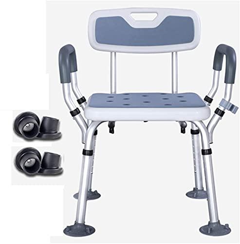 Duschstuhl für ältere Menschen Schwere höhenverstellbare Duschsitze für Senioren und Behinderte Dusche mit Arm- und Rückenunterstützung Rutschfester Sicherheits-Badezimmer-Duschhocker Badewannenlift,