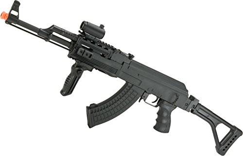 Evike Airsoft - Matrix Airsoft AK47 RIS Special Forces AEG Rifle w/Skeleton Side-Folding Stock by CYMA - (Package: Gun Only)