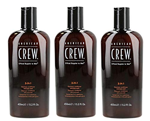 3er American Crew Classic 3 in 1 Shampoo Conditioner Body Wash 450 ml