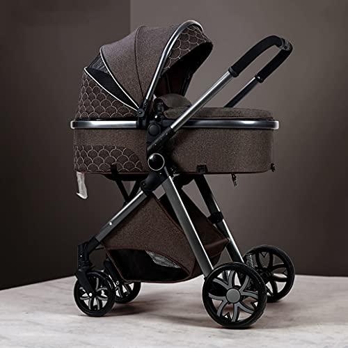 Silla de paseo bebe,Cochecito infantil silla de paseo ligera hasta 25 kilos Carrito bebe Cochecito de aleación de aluminio plegable con una mano Cochecitos para niños pequeños ( Color : Chocolate )