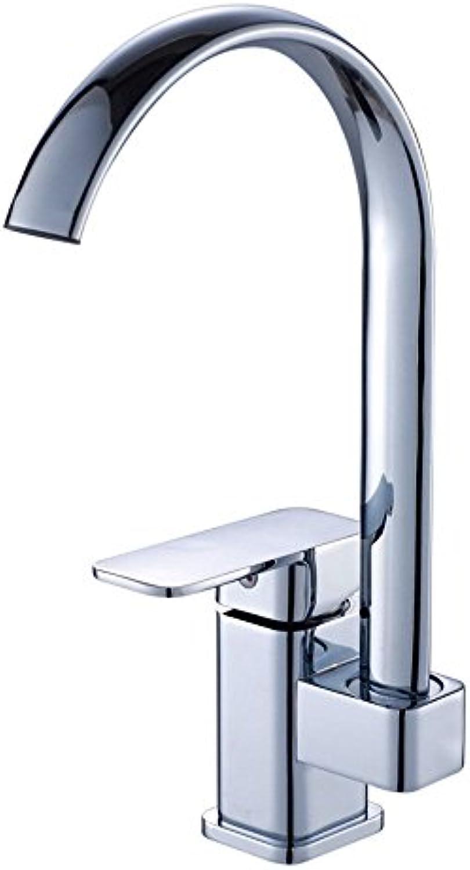 Moderne einfache kupferne heie und kalte Spülbecken Wasserhhne Küchenarmatur Küchenarmatur heie und kalte Einlochbohrung drehbare Waschbecken Waschbecken Geeignet für alle Badezimmer Spülbecken