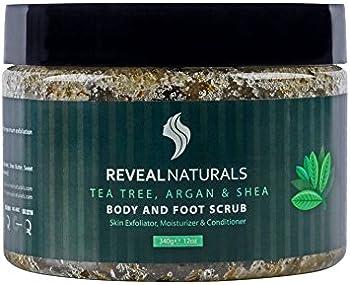Reveal Naturals 12 Oz Tea Tree Oil Scrub with 23 Dead Sea Minerals