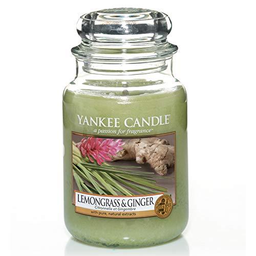 Yankee Candle große Duftkerze im Glas, Lemongrass and Ginger, Brenndauer bis zu 150Stunden