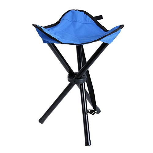 Lucky DuDu Asientos de Camping Plegables Senderismo Taburete Ultraligero Plegable Camping Taburete al Aire Libre (Color : Azul)
