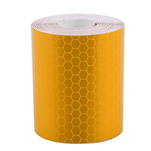 Autocollant de sécurité, sans résidu Durable Amélioration de la visibilité nocturne réfléchissante Rouleau de ruban adhésif réfléchissant pour remorques Voitures Vélos 5cmx3m pour Conducteurs(Orange)