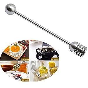 ysister Palo Miel, Honey Spoon Acero Inoxidable 304 Miel y Jarabe Dipper