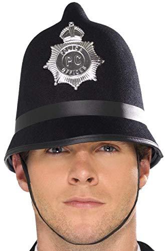 Smiffys Casquette de police, avec insigne, feutre