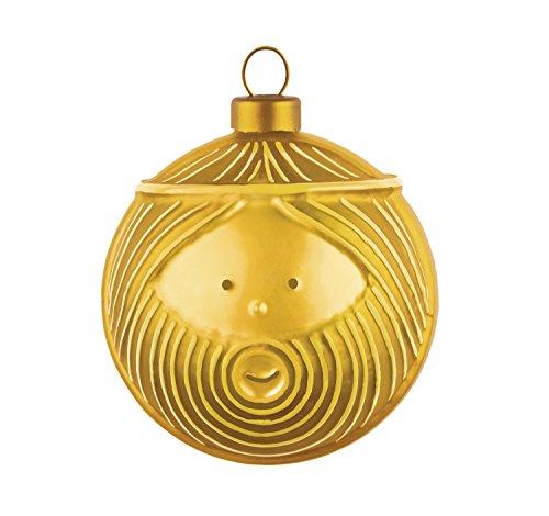 Alessi Amj13 3 Gd Giuseppe Boule de Noël en Verre Soufflé, Colorée or, decorée à la Main, Set de 4 Pièces