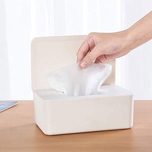 Tincocen Gewebe Aufbewahrung Box Hülle Feuchttücher Spender Halter Serviette Aufbewahrungsschachtel mit Deckel für Heim Büro