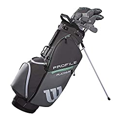 powerful Wilson Golf Profile Platinum Carry Kit, Right-Handed