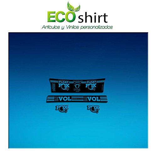 Ecoshirt 9E-3SK4-R9D0 Pegatina Sticker Shock Fox Performance Series Float Am192 Aufkleber Decals Autocollants Amortiguador, Azul