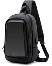 ACLUO ボディバッグ メンズ 斜め掛け 大容量 防水 ワンショルダー 肩掛けバッグ 軽量 ipad 収納可能