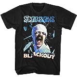 Photo de Scorpions Blackout Licensed Adult T Shirt Men's Fashion Crew Neck Short Sleeves Cotton Tops Clothing, Black