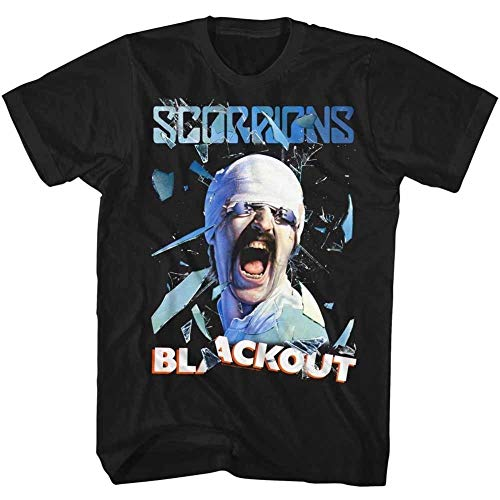 Scorpions Blackout Licensed Adult T Shirt Men