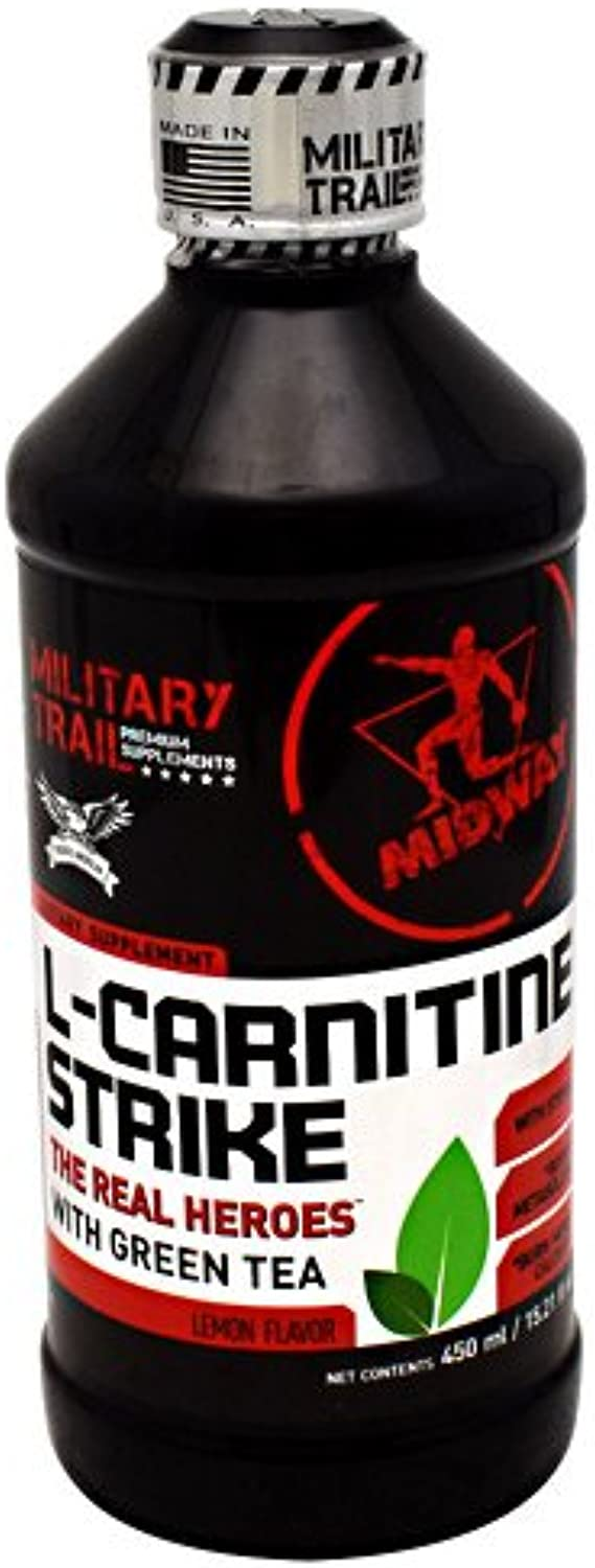 L Carnitine 3,800mg Pre Workout Supplement by Midway Labs  Fast Metabolism Booster, Healthy Weight Loss, Green Tea - Burn Calories Naturally, Lemon Flavor (15 Servings, 15.21 fl.oz)