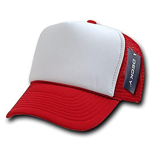 Decky Trucker Cap in 2 Farbtönen, Unisex Herren, 210-RED, rot, Einheitsgröße