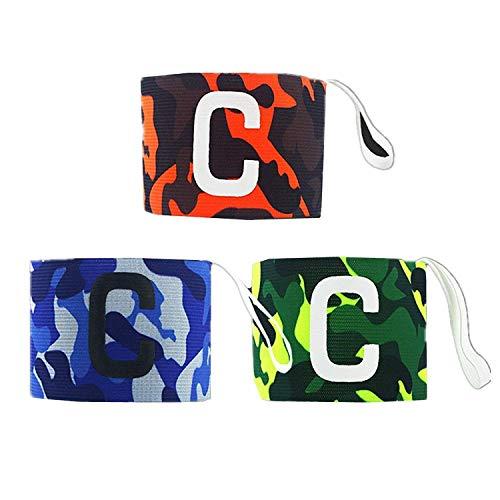 ASEOK Kinder Kapitäns-Armband – Klettverschluss für verstellbare Größe, geeignet für verschiedene Sportarten wie Fußball & Rugby, Hockey & Gaelic-Fußball, 3 Stück Farbe