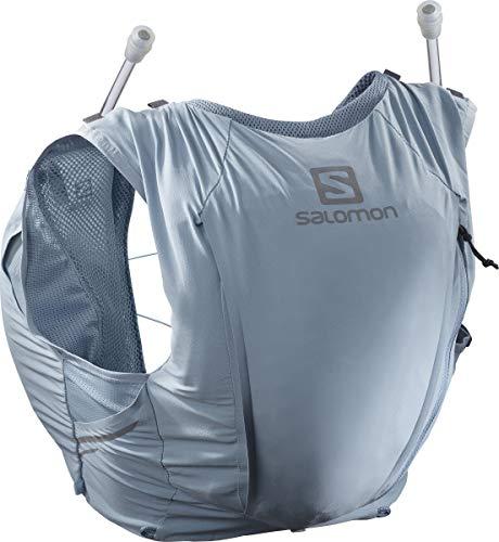 Salomon Womens Sense Pro 10 Set Running Hydration Vest, Ashley Blue/Ebony, X-Small