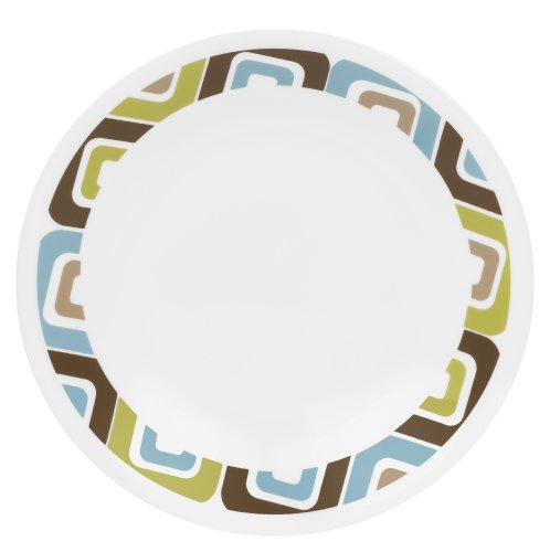 Corelle Livingware 6-3/4-Inch Bread and Butter Plate, Squared