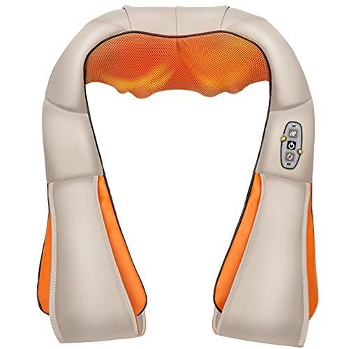 HGJDKSJ nekmassage-apparaat, massagemat met warmtefunctie, voor nek-, schouder-, taille-, buik-, been-, spierpijn, auto- en thuisgebruik