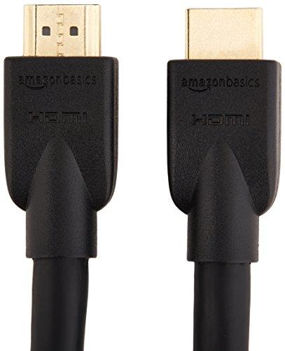 Panasonic DVD-S700EG-K DVD-Player (Multiformat Wiedergabe mit xvid, MP3 und JPEG) Schwarz & Amazon Basics - Hochgeschwindigkeitskabel, Ultra HD HDMI 2.0, 3D-Formate, mit Audio Return Channel, 4,6 m