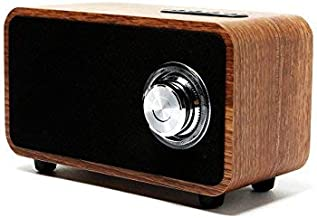 OHHAI Bluetooth Speakers with Super Bass and Subwoofer Bluetooth Speaker Wooden, Portable 3D Stereo Music Sound Speaker with 10-Hour Playtime, Enhanced FM radio for Home and Outdoor Party/Beach