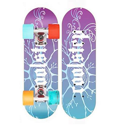 YXD Shortboard Skateboard Erwachsene Kinder Skateboard Big Skateboard Rutschfestes Skateboard Hoch belastendes Skateboard