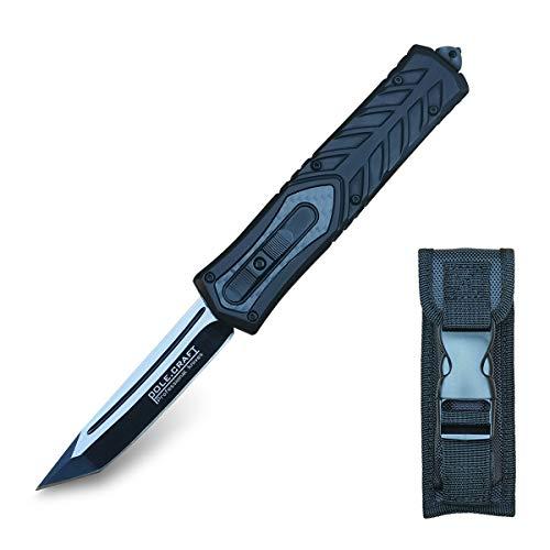 Cuchillo Plegable Navaja de Bolsillo Cuchillo Supervive - 440C Steel 58 HRC...